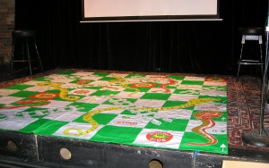The huge Snakes & Ladders drop cloth